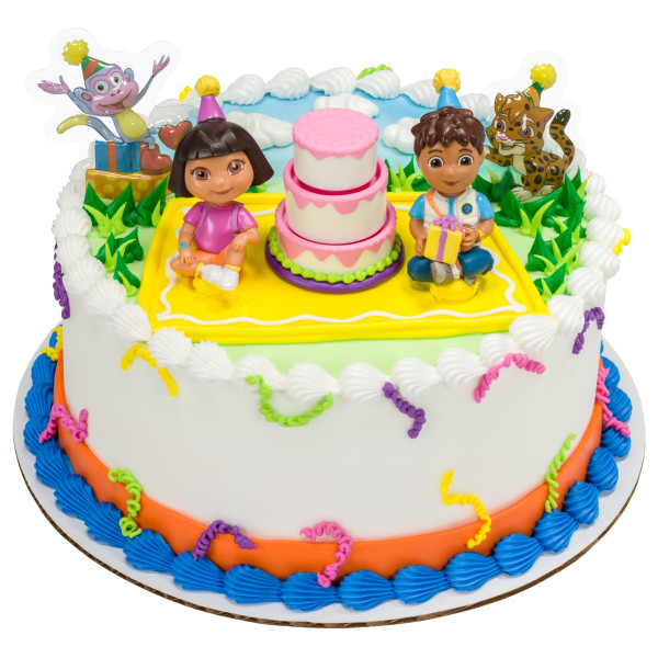 Outstanding Dora The Explorer Birthday Celebration Cake Topper Funny Birthday Cards Online Alyptdamsfinfo