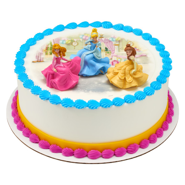 Awe Inspiring Disney Princess Once Upon A Moment Cake Topper Cinderella Belle Aurora Funny Birthday Cards Online Overcheapnameinfo