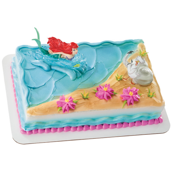 Excellent Disney Princess The Little Mermaid Ariel And Scuttle Cake Topper Funny Birthday Cards Online Drosicarndamsfinfo