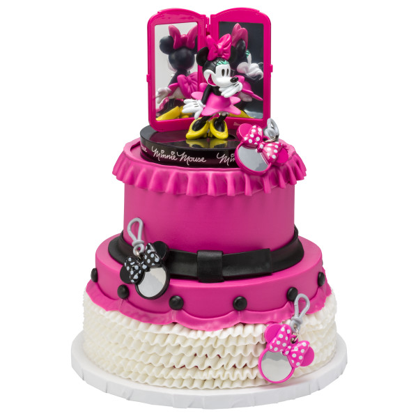 Marvelous Minnie Mouse Bags Bows Shoes Cake Topper Funny Birthday Cards Online Elaedamsfinfo